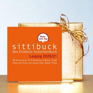 sittibuck Erlebnis-Gutscheinbuch Gutscheine Leipzig Geschenk gold